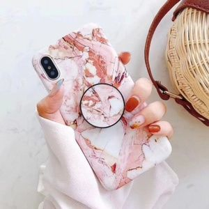 Accessories - NEW iPhone X/ 7/8/7+/8+ Marble Case W/Holder